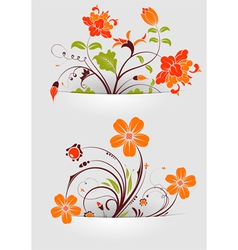 Flower mounted in pocket vector