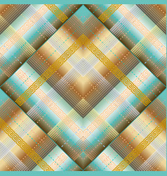 geometric striped greek 3d seamless pattern vector image