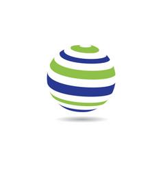 Global logo template icon vector