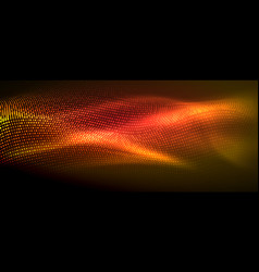 glowing abstract wave on dark shiny motion vector image