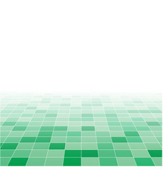 green random square mosaic or tiles background vector image