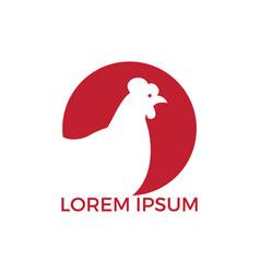 Hen logo design vector