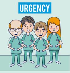hospital urgency medical team vector image