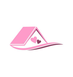 house love couple logo vector image