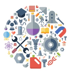 Icons for industrial and science vector image