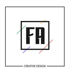 Initial letter logo fa template design vector