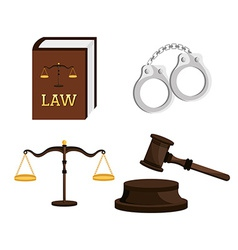 Law design vector image