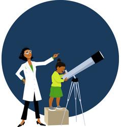 looking at stars vector image