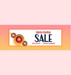 lovely raksha bandhan sale banner design with vector image