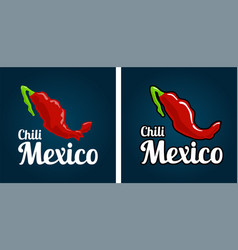 map country mexico as chili peppers vector image