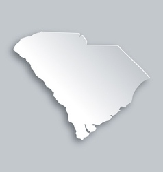 Map of South Carolina vector image