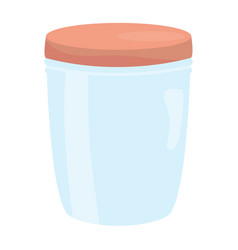 Mason jar glass with lid vector