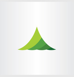Mountain green logo symbol element vector
