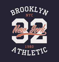 new york brooklyn sports apparel vector image