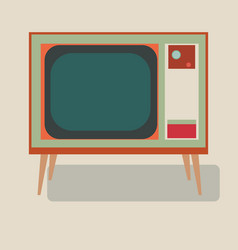 Old tv of the good old retro tv vector