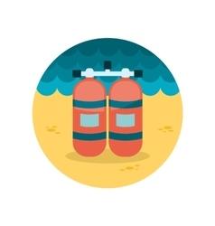 Oxygen tank flat icon vector