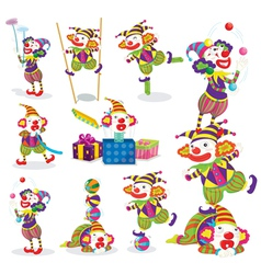 Performing clowns vector