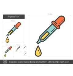 Pipette line icon vector image