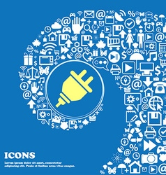 plug icon Nice set of beautiful icons twisted vector image