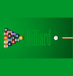 Realistic 3d billiard balls with shadows vector