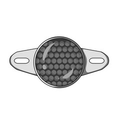 Reflector for cyclists icon for better visibility vector