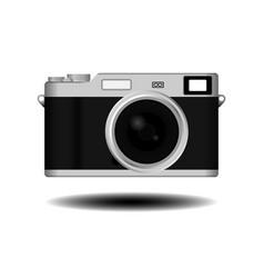 Retro vintage camera vector image