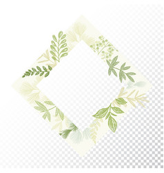 rhomb floral decorative frame vector image