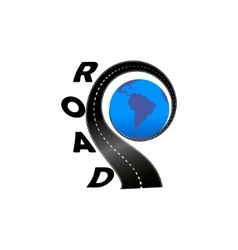 road with globe vector image