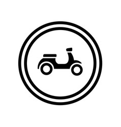 scooter bike logo template motorcycle icon design vector image