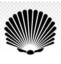 Sea shells shellfish flat icon for apps vector