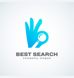 Search logo vector