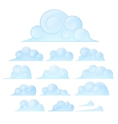 Set of Cloud elements vector image