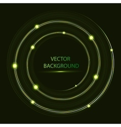 Shining circle Round neon banner vector