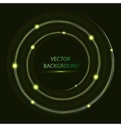 shining circle Round neon banner vector image