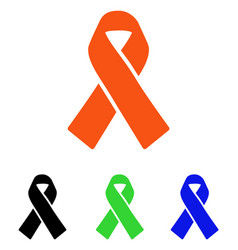 Solidarity ribbon flat icon vector
