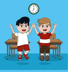 Students in classroom vector