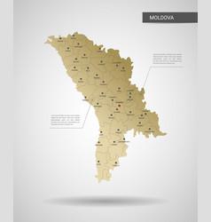 stylized moldova map vector image