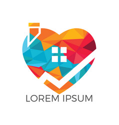 sweet home logo design vector image