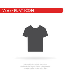 t-shirt icon for web business finance and vector image