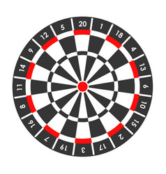 Target for darts game with score points around vector