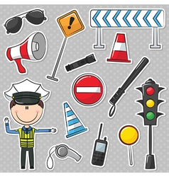 Traffic Policeman vector