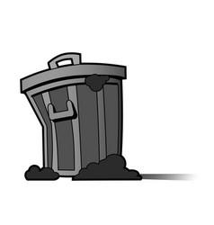 Trash icon vector