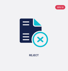 Two color reject icon from files and folders vector