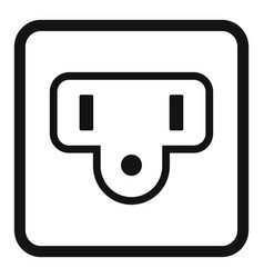 Type b power socket icon simple style vector