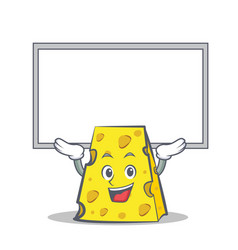 Up board cheese character cartoon style vector