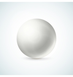 White glossy sphere isolated on white vector