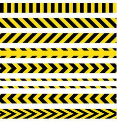 yellow and black danger ribbons vector image
