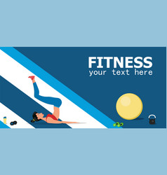young female athlete doing fitness workout vector image