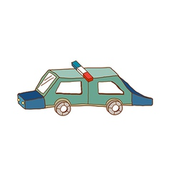 A squad car vector