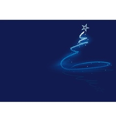 Blue Abstract Christmas Tree vector image vector image